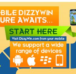 Dizzy win screen shot mobile