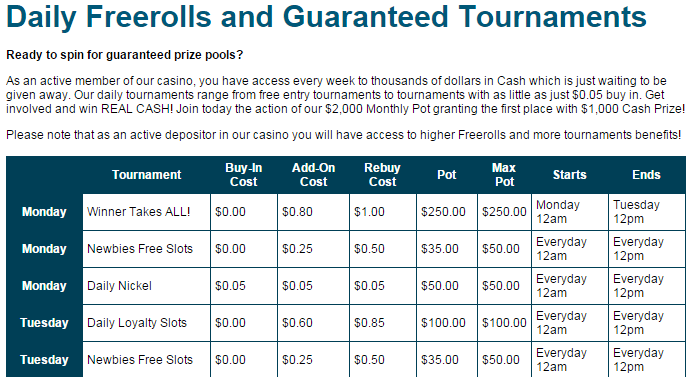 SlotoCash Free Roll Example no deposit bonus