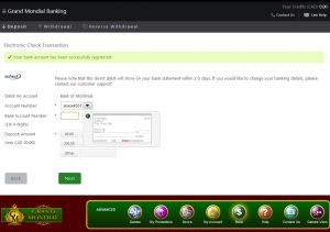 example how to use echeck 2