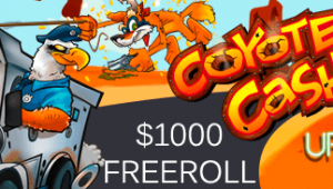 $1000 FREEROLL – Slotocash and Uptown Aces