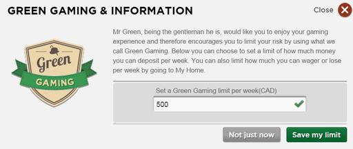 Mr. Green Limit